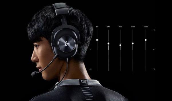 Logitech G Pro X, odnímateľný mikrofón, filter ruchov, vysoko citlivý, veľký rozsah