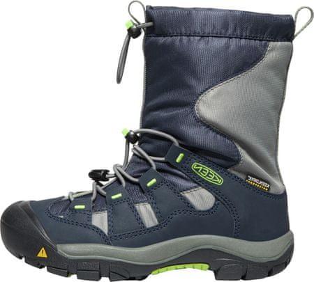 KEEN dětská zimní trekingová obuv WINTERPORT Y 34 tmavě modrá