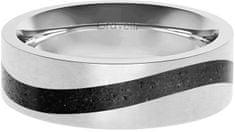 Gravelli Betónový prsteň Curve oceľová / antracitová GJRWSSA113