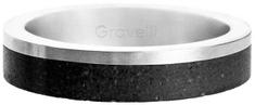 Gravelli Betónový prsteň Edge Slim oceľová / antracitová GJRUSSA0021
