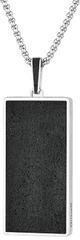 Gravelli Acél medál fúziós acél / antracit lánc medál GJPMSSA101UN