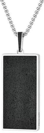 Gravelli Acél medál fúziós acél / antracit lánc medál GJPMSSA101UN (hossz 65 cm)