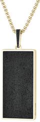 Gravelli Náhrdelník s betónovým príveskom a tradičným retiazkou Fusion zlatá / antracitová GJPMYGA101UN
