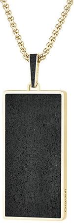 Gravelli Obesek iz betonskega obeska s tradicionalno fuzijsko verigo zlato / antracit GJPMYGA101UN (Dolžina 6