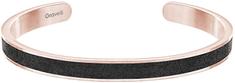 Gravelli Pevný oceľový náramok s betónom Fusion Thin bronzová/antracitová GJBWRGA101UN