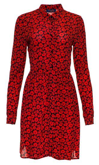 Trussardi Jeans dámske šaty 56D00320-1T003073 42 červená