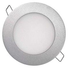Emos EMOS LED panel 120mm, kruhový vestavný stříbrný, 6W neutr. bílá 1540120670