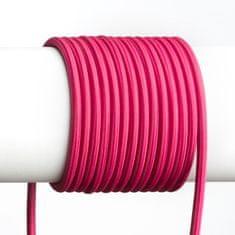 RED Design Rendl RENDL FIT 3X0,75 1bm textilní kabel fuchsiová R12226