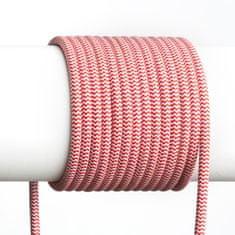 RED Design Rendl RENDL FIT 3X0,75 1bm textilní kabel červená/bílá R12227