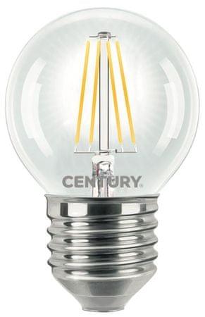 Century CENTURY LED FILAMENT MINI GLOBE ČIRÁ 4W E27 2700K 470Lm 360d 45x72mm IP20 CEN INH1G-042727