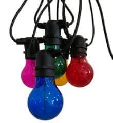 Century CENTURY LED FIESTA Světelný řetěz s 10 LED žárovkami barevné 6W E27 200Lm IP44