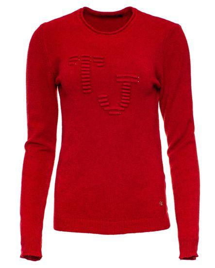 Trussardi Jeans dámský svetr 56M00235-0F000409 S červená