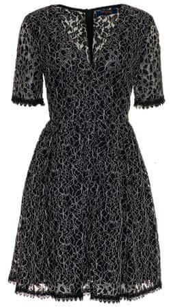 Trussardi Jeans dámské šaty 56D00297-1T003069 44 černá