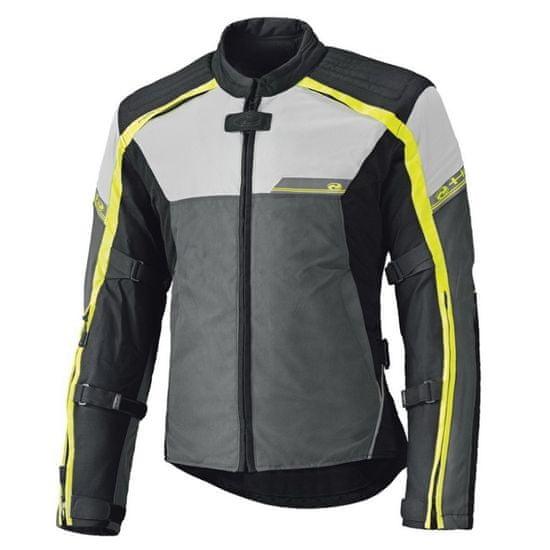 Held pánska bunda na moto RENEGADE sivá/fluo žltá, Humax (vodeodolná)