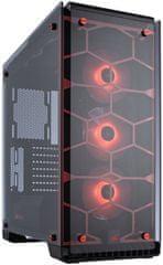 Corsair Crystal saries 570X RGB, Tempered Glass, červená