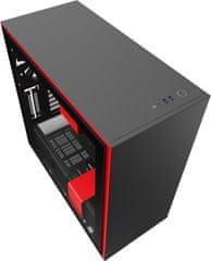 NZXT H710, okno, čiernočervená