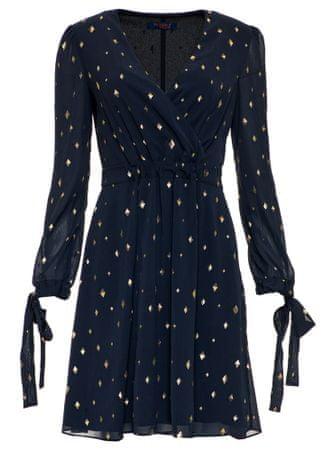 Trussardi Jeans dámske šaty 56D00292-1T003071 40 tmavomodrá