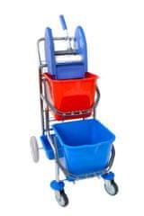 EASTMOP Úklidový vozík KAMZÍK - provedení 2 košíky