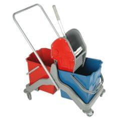 AllServices Úklidový vozík plastový 2 x 20 l