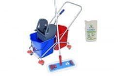 AllServices Úklidový vozík 2 x 20 l se ždímačem + kompletní mop + Lemon Floor