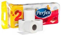AllServices Toaletní papír Perfex Plus, 3 vrstvy 8 + 2 ks