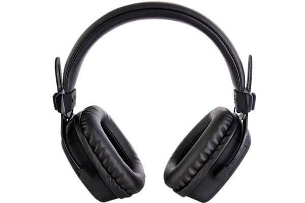 kabelová sluchátka buxton bhp 8500 elegantní designové provedení pohodlná konstrukce kabel v délce 2,5 m 3,5mm jack 6,3mm redukce impedance 32 ohmů 50mm kobaltové měniče redukce na 6,3 mm jack