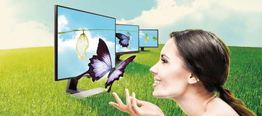 Monitor biurowy BenQ GL2480E - Eye-saver, technologia Brightness Intelligence i optymalizacja jasności