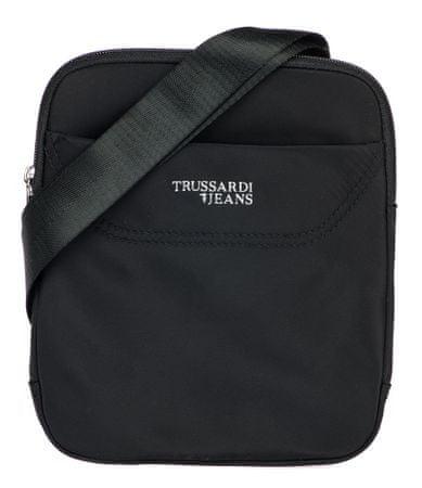 Trussardi Jeans unisex čierna crossbody taška 71B00117-9Y099996