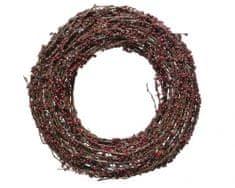 Kaemingk Dekorativní věnec s bobulemi a glittery, 33x8 cm