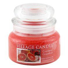 Village Candle Sviečka v sklenenej dóze , Brusnice a grep, 312 g
