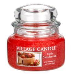 Village Candle Sviečka v sklenenej dóze , Čerstvé jahody, 312 g