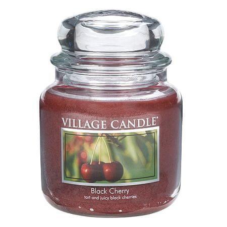 Village Candle Gyertya egy üvegedénybe falusi gyertya, Fekete cseresznye, 454 g