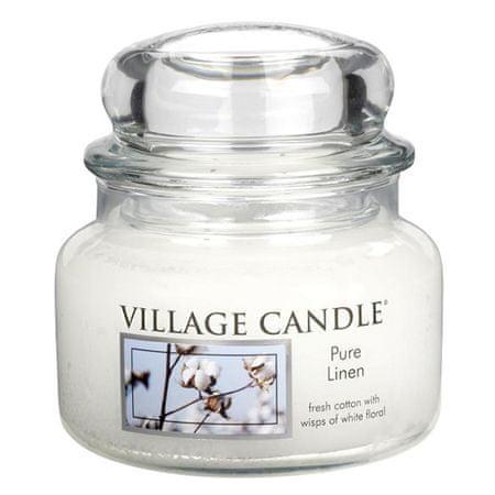 Village Candle Świeca w szklanym słoju Świeca wiejska, Czysta pościel, 312 g