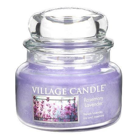 Village Candle Świeca w szklanym słoju Świeca wiejska, Rozmaryn i lawenda, 312 g