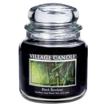Village Candle Gyertya egy üvegedénybe falusi gyertya, Fekete bambusz, 454 g
