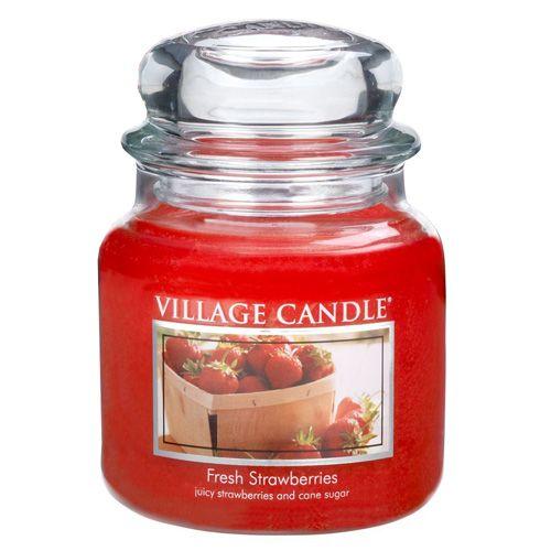 Village Candle Sviečka v sklenenej dóze , Čerstvé jahody, 454 g
