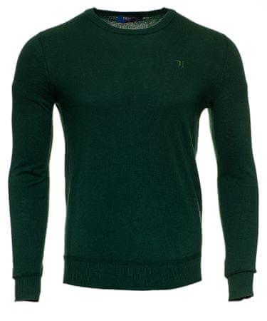 Trussardi Jeans 52M00235-0F000412 moški pulover, XL , temno zelena