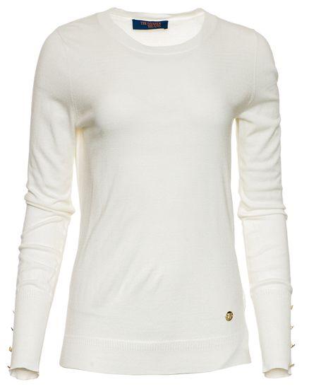 Trussardi Jeans dámsky sveter 56M00239-0F000414 L biela