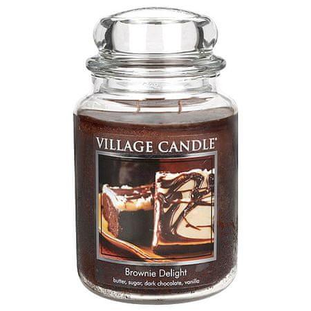 Village Candle Sveča v steklenem kozarcu Vaška sveča, Čokoladna torta, 737 g