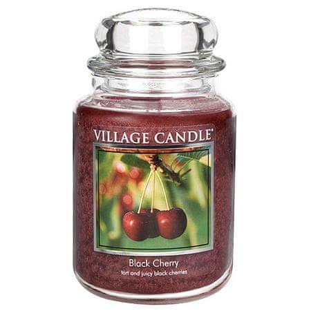 Village Candle Sveča v steklenem kozarcu Vaška sveča, Črna češnja, 737 g