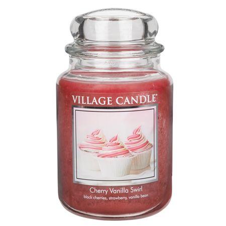 Village Candle Sveča v steklenem kozarcu Vaška sveča, Češnje in vanilija, 737 g