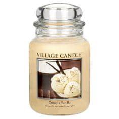 Village Candle Gyertya egy üvegedénybe falusi gyertya, 737 g vanília fagylalt