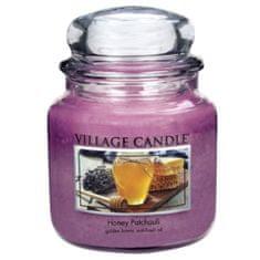 Village Candle Sviečka v sklenenej dóze , Med a pačuli, 454 g
