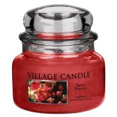 Village Candle Sviečka v sklenenej dóze , Červené kvety, 312 g