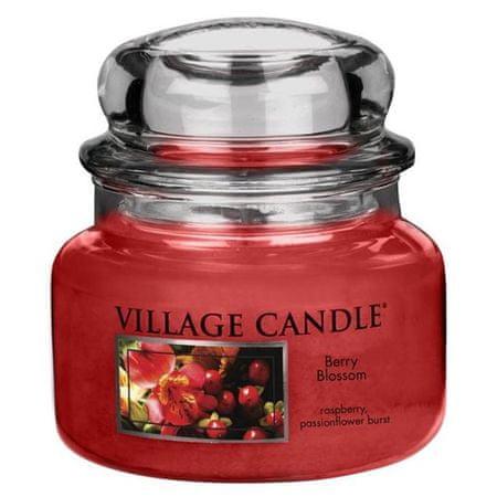 Village Candle Świeca w szklanym słoju Świeca wiejska, Czerwone kwiaty, 312 g