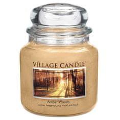 Village Candle Sviečka v sklenenej dóze , Jantárový les, 454 g