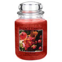 Village Candle Sviečka v sklenenej dóze , Červené kvety, 737 g