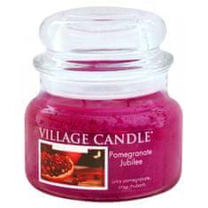 Village Candle Sveča v steklenem kozarcu Vaška sveča, Granatno jabolko, 312 g