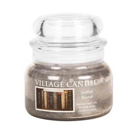 Village Candle Gyertya egy üvegedénybe falusi gyertya, Bőr borítás, 312 g