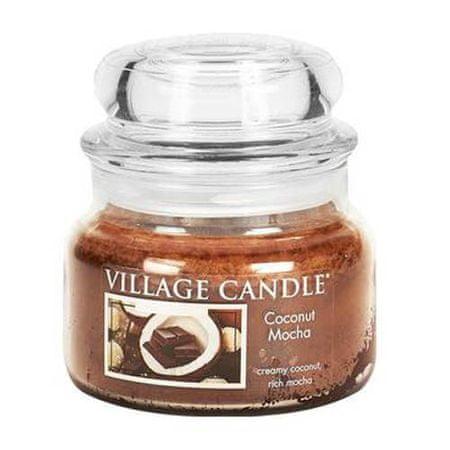 Village Candle Sveča v steklenem kozarcu Vaška sveča, Kokos s čokolado, 312 g
